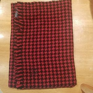 Coach Men's wool cashmere scarf houndstooth
